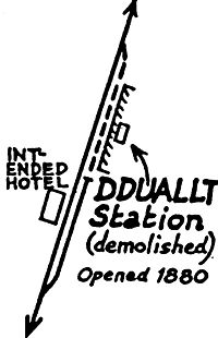 Drawing of layout from 1963. Click for larger view
