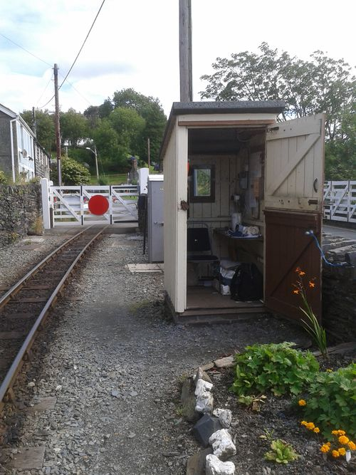 The crossing keeper′s cabin at Penrhyn Crossing