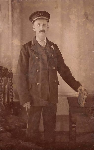 William Parkins, Station master at Minffordd.