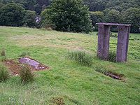 Remains of the old Beddgelert station in July 2005.