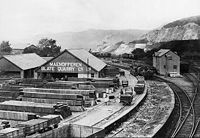 The Maenofferen Wharf in Minffordd Yard