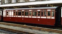 Currently carrying a variation of the standard maroon and cream livery