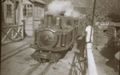 Livingston Thompson on down train at Glanypwll crossing, 1930s - Adrian Gray collection.jpg