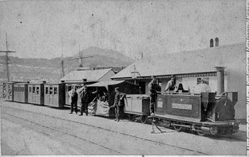 Princess at Harbour Station*Date: c1871 *Photo: John Owen - FR archives
